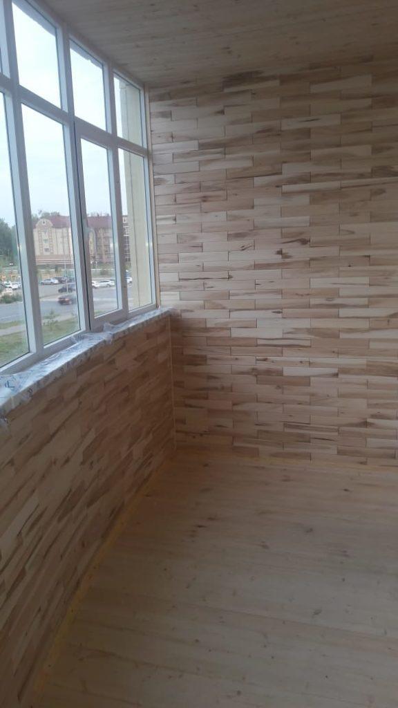 Древ 13 - пример работ по отделки пола на балконе 05