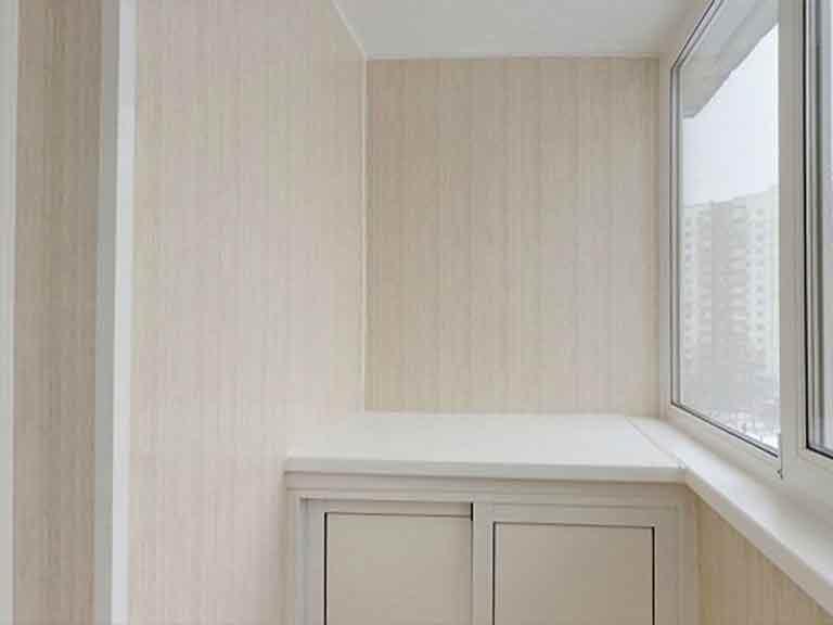 Отделка стен на балконе мдф панелями