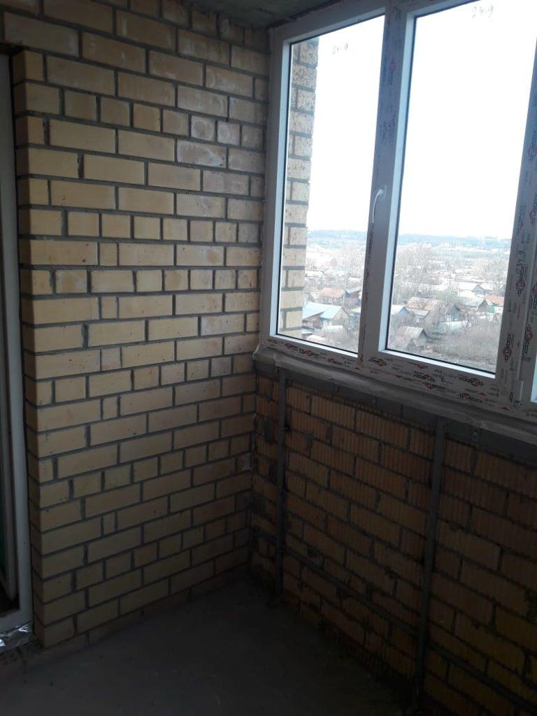 Пример отделки балкона - было до 1