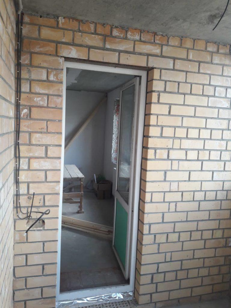 Пример отделки балкона - было до 2