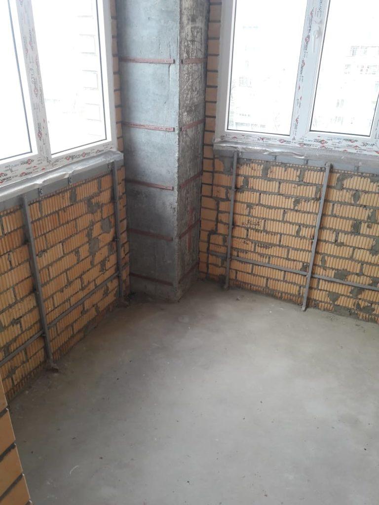 Пример отделки балкона - было до 3