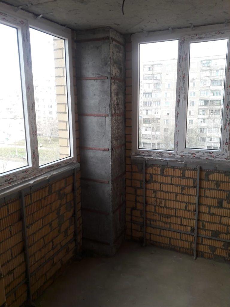 Пример отделки балкона - было до 4