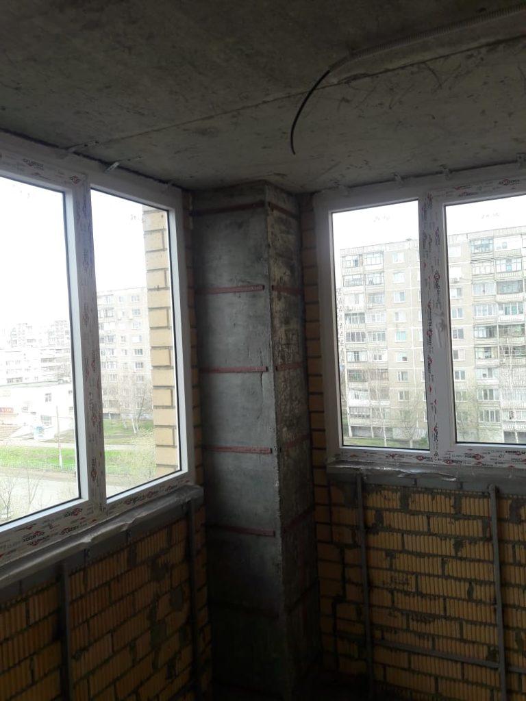Пример отделки балкона - было до 5
