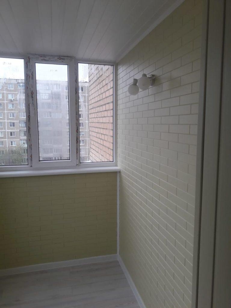 Пример отделки балкона - стало после 1