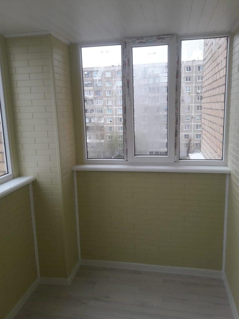 Пример отделки балкона - стало после 2