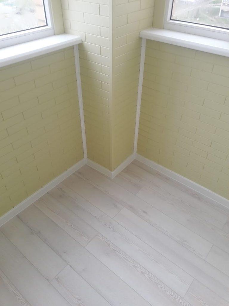 Пример отделки балкона - стало после 3