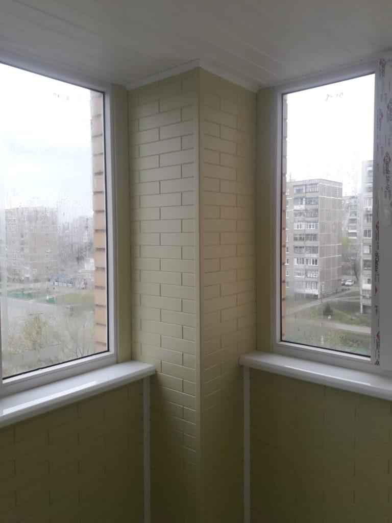 Пример отделки балкона - стало после 4