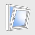 Установка окон с поворотно-откидным остеклением